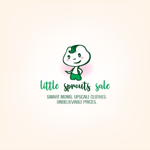 Logo for a fusical shop with baby and toddler clothes