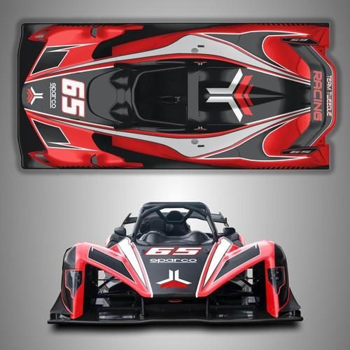 Team Tweedlie Race Car Wrap