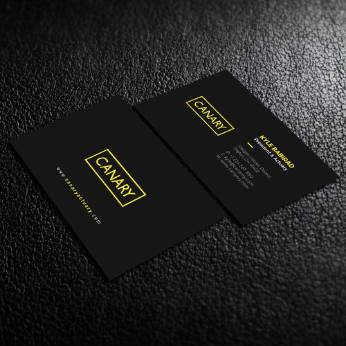 an elegant business card for Canary Consulting