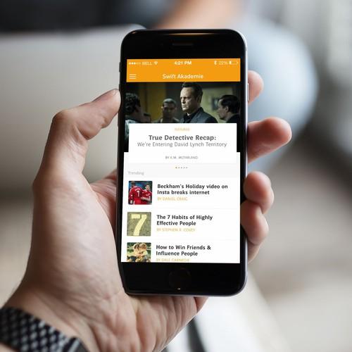 App design fo a Blog