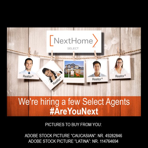 facebook ad banner to hire select agents