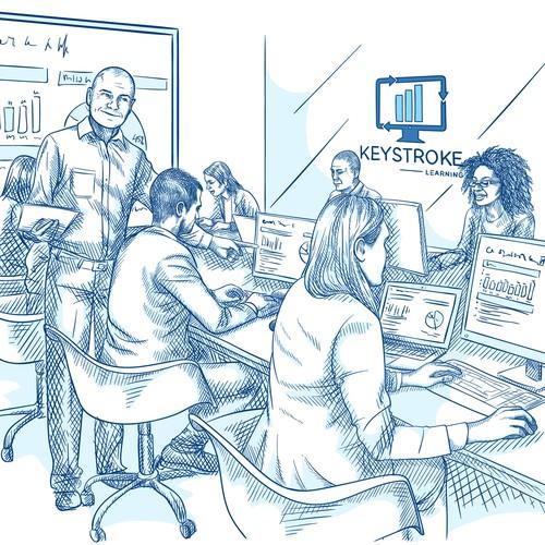 Illustration for web site