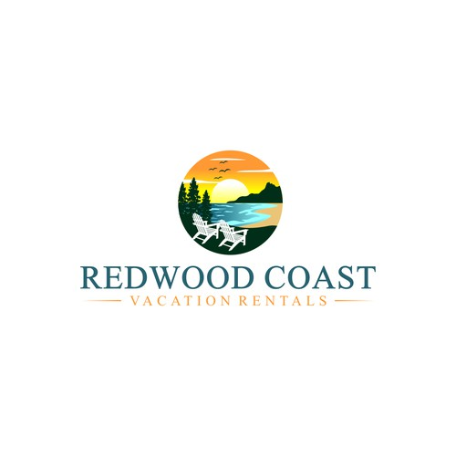 logo concept for REDWOOD COAST VACATION RENTALS