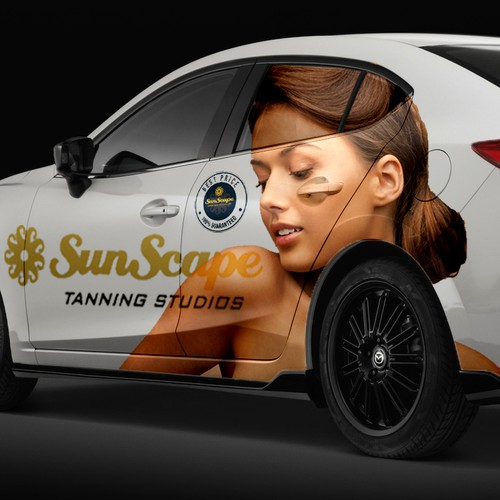 Car wrap for tanning Studio