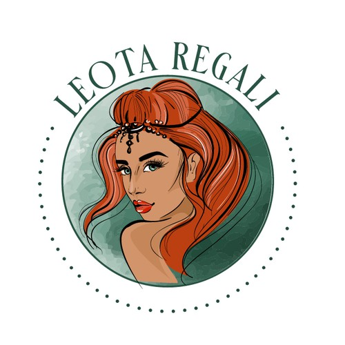 logo illustration for an edgy feminine Etsy and Boutique Company