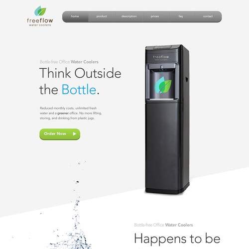 Create an inspiring website for Water Cooler Company