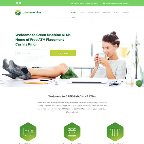 Landing Page for GreenMachine