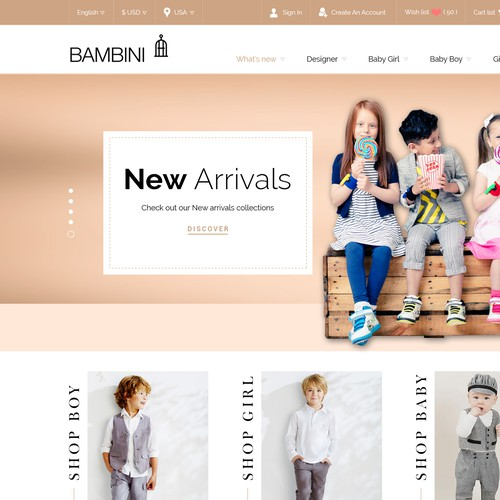Bambini Children cloth wear store