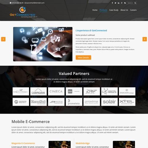 Internet service provider website