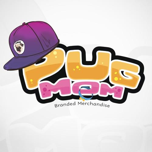 Pug Mom Logo Design