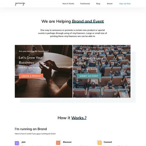 Parsnip Landing Page