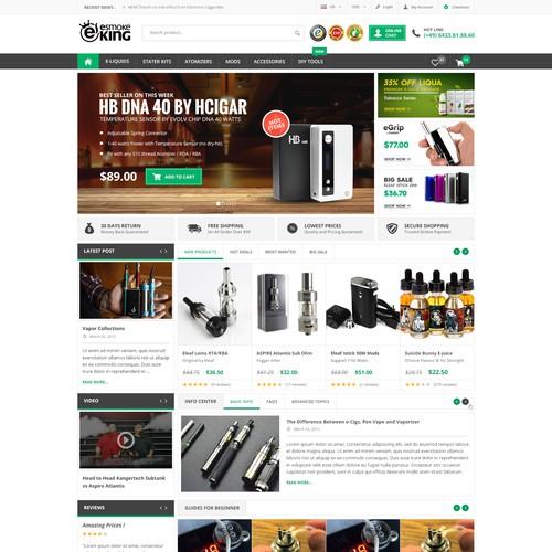 Website Design for eSmokeKing.de