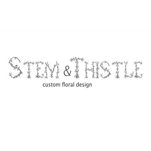creative logo for Stem and Thistle