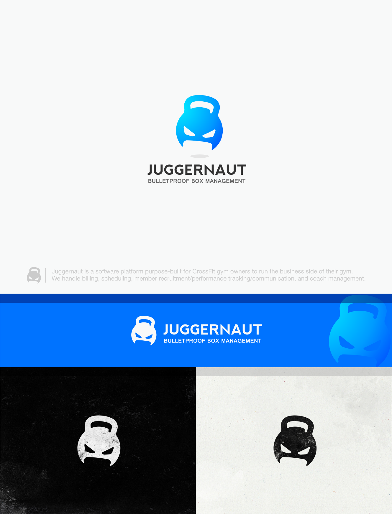 Create a logo for Juggernaut, a fitness software platform