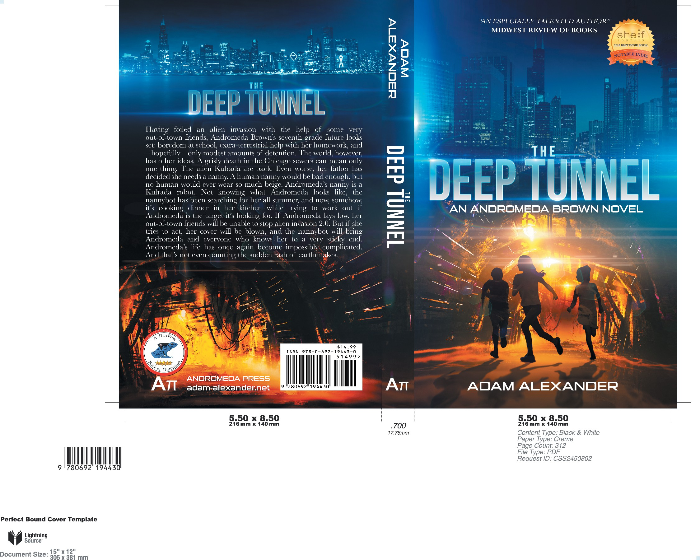 Book Cover for Middle Grade Sci-Fi Novel!
