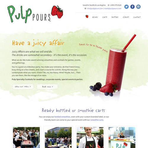 Pulp Pours Website