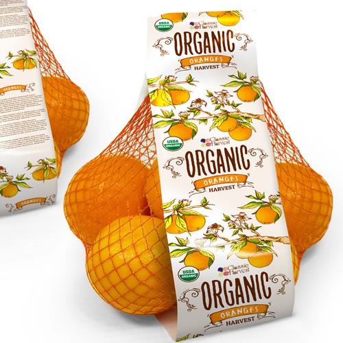 Oranges bag label