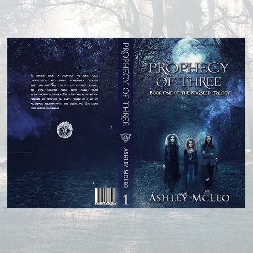 "Book Cover for ""Prophecy of Three"" contest."