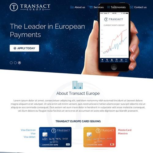 Create a website for a European Bank!