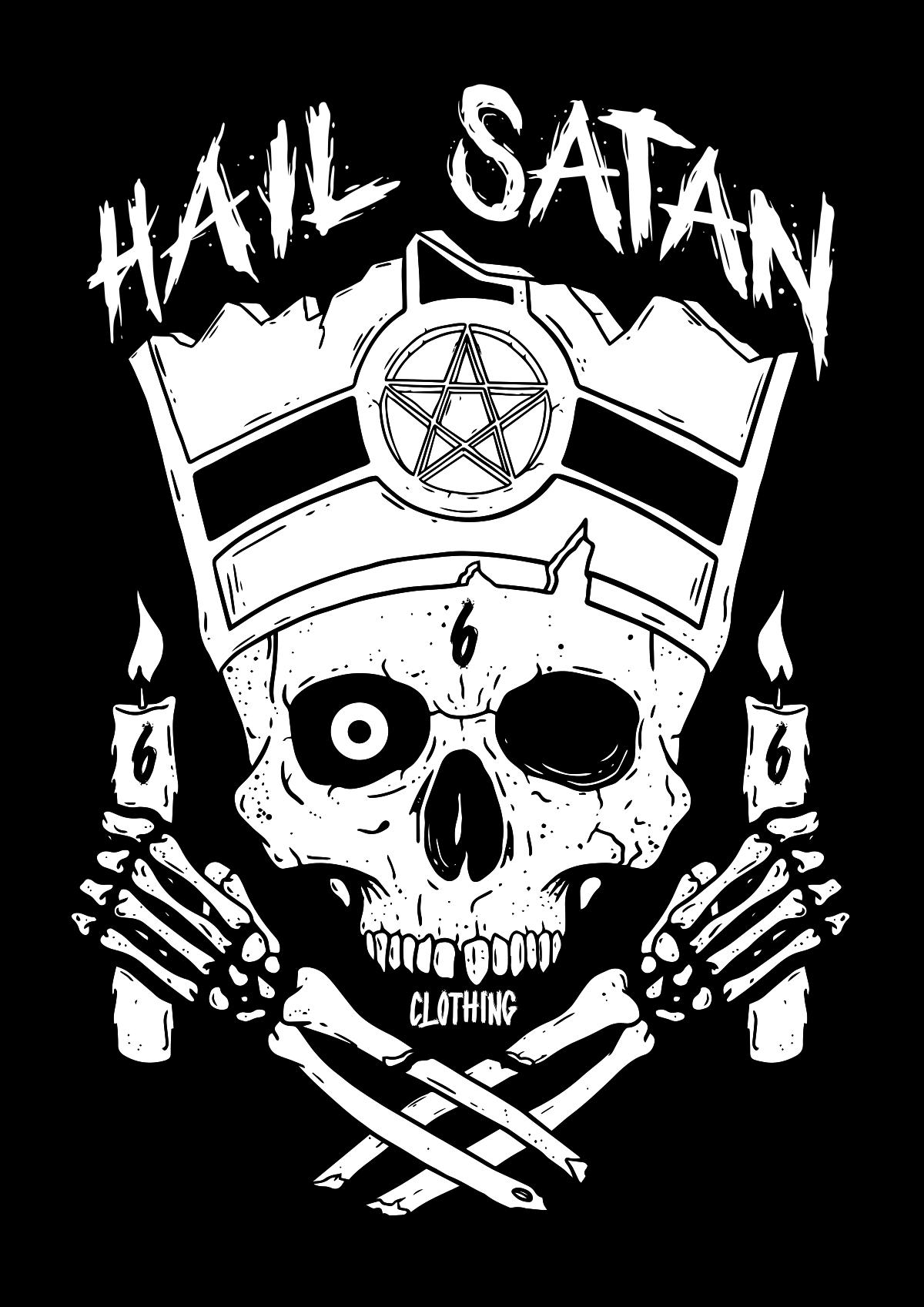 Logo for metal themed t-shirt company