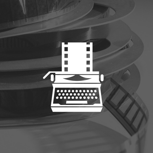 typewriter + film movie logo concept