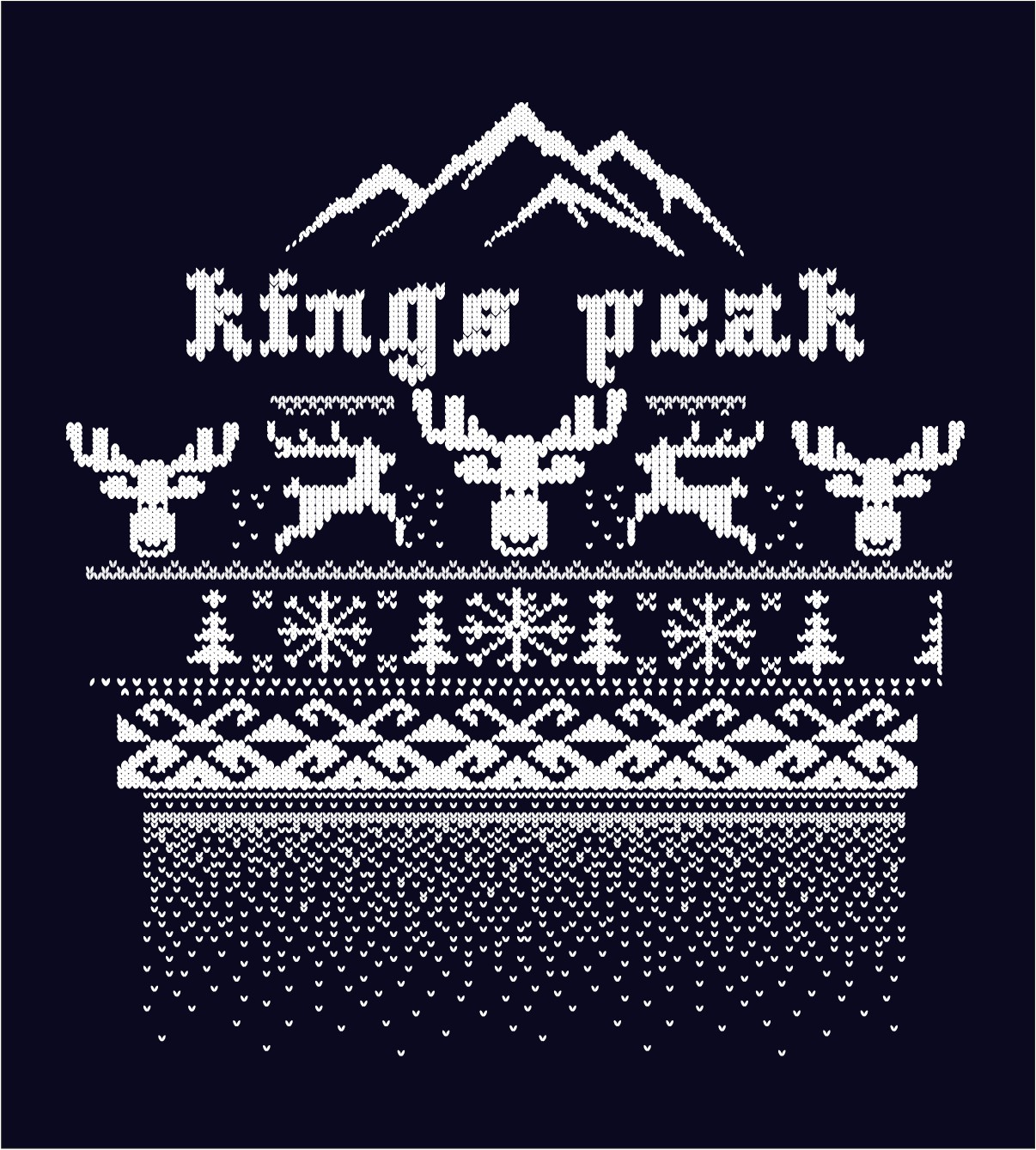 christmas sweater design for Kings Peak Credit Union