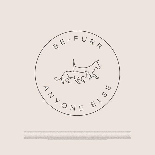 Pet brand logo concept
