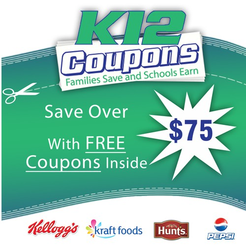 Create the next book cover for K12 Coupons