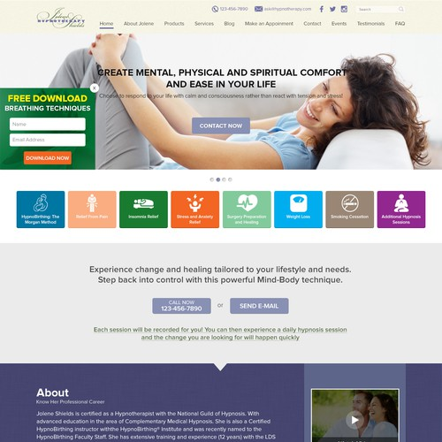 Website Design for Hypnotherapy