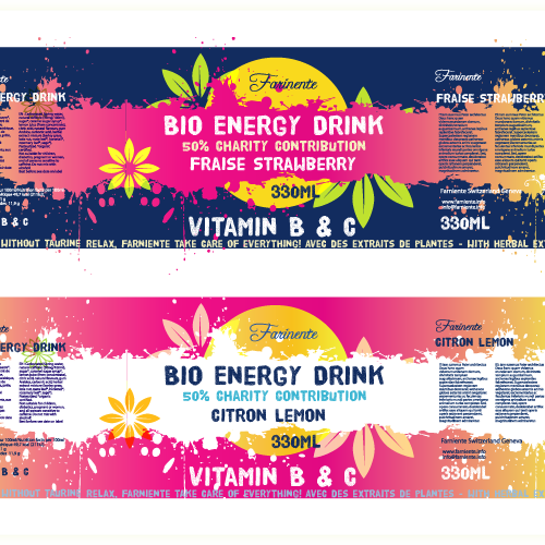 Organic Energy Drink Labels Contest