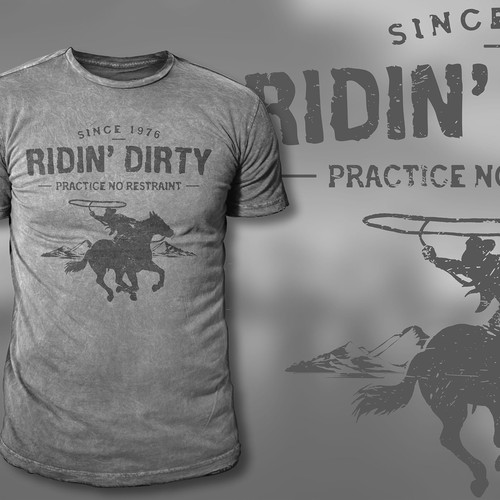 Ridin' Dirty Clothing T-shirt designs