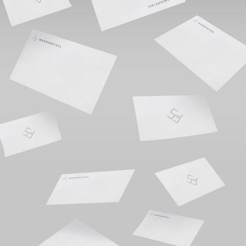 Minimal luxury logo design for WANDERSTEEL