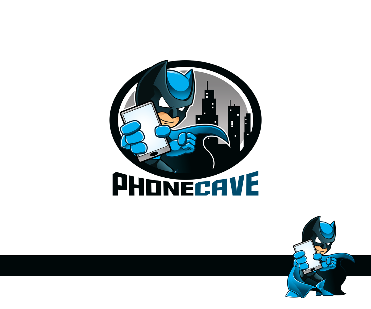 Create a brand Universe with an engaging Logo Design and Character creation for PHONECAVE.com!