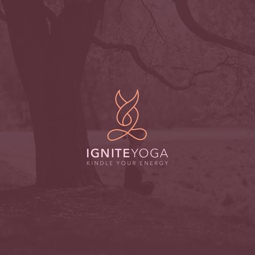 Yoga logo concept