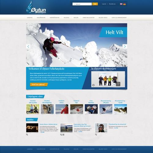 New web design for Norwegian out door school