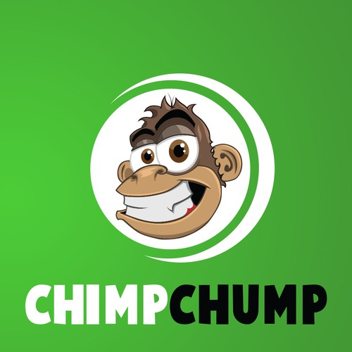 Monkey head mascot for ChimpChump