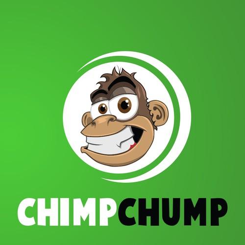 Monkey head mascot for ChimpChump