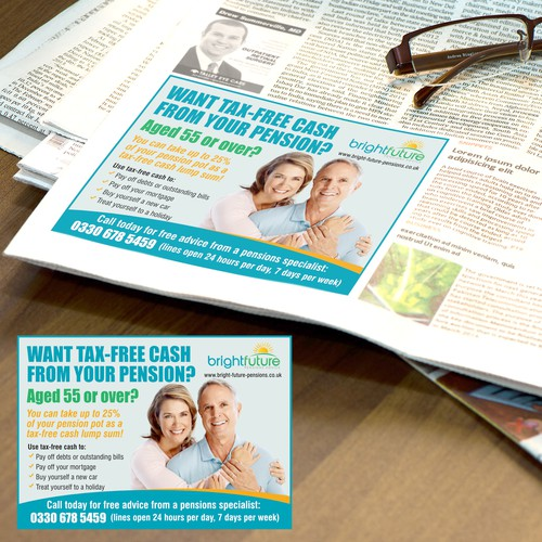 Pensions advice company needs a stand-out Newspaper Ad