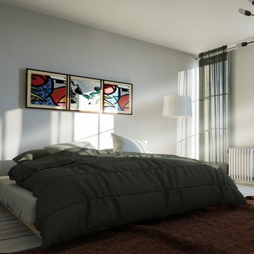 District of Pashant Apt Building Bedroom Interior