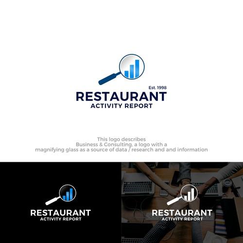 Restaurant report analytic logo