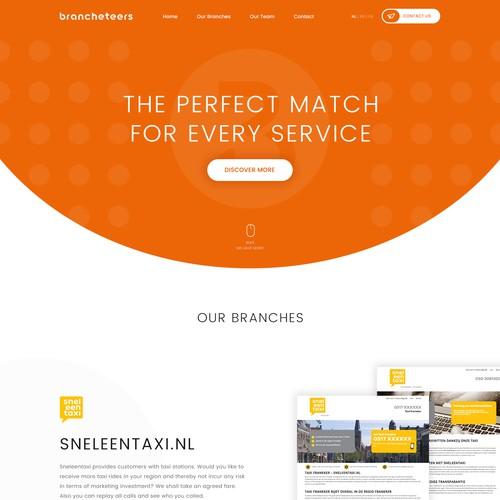 Design a fun and unique corporate website for a Dutch Online Marketing firm
