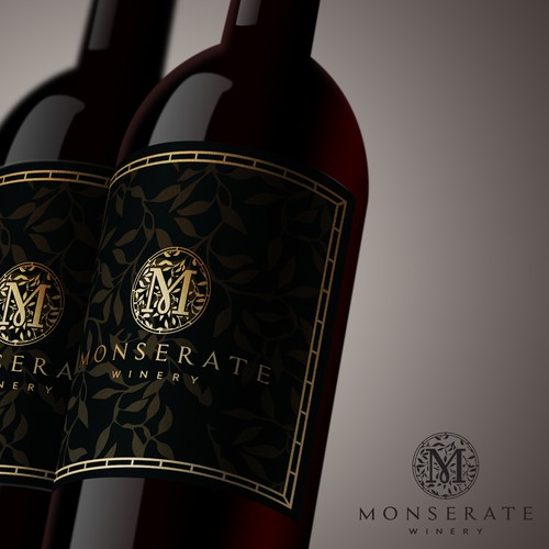 Luxury logo for MONSERATE Winery