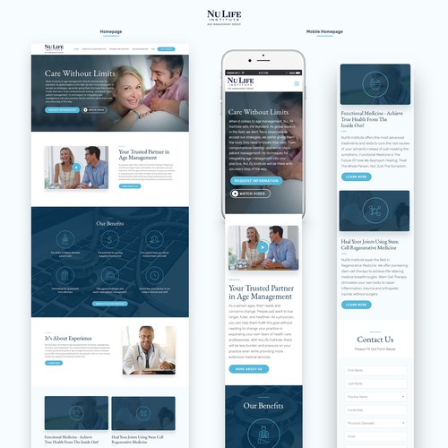 Sophisticated medical company website