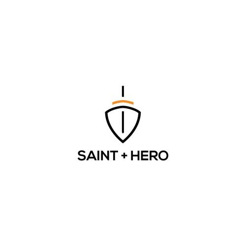 saint + hero logo