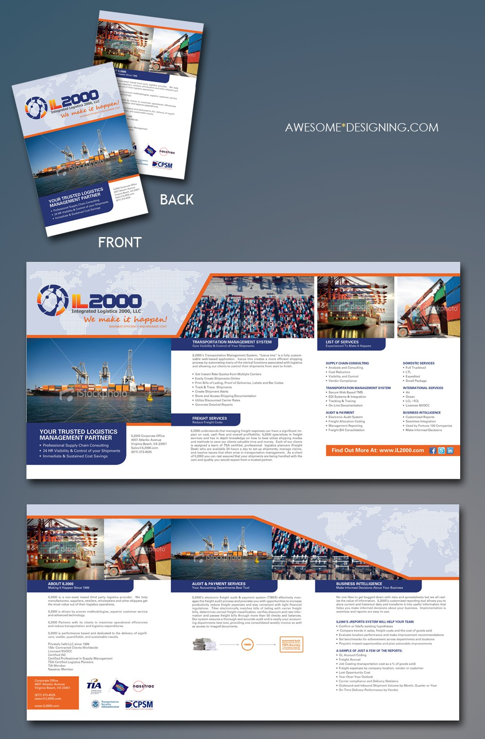 Create the next print or packaging design for IL2000 (Integrated Logistics 2000, LLC)