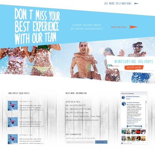 Web page foe wind surfing school