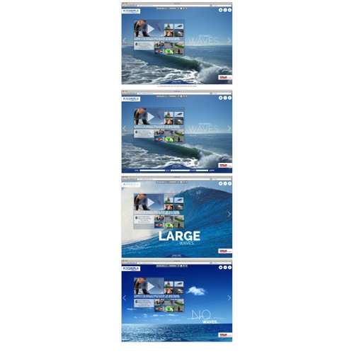 Recreate our landing page - Water Sports Product
