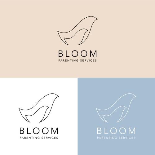 Minimal Logo Concept for Bloom Parenting Service