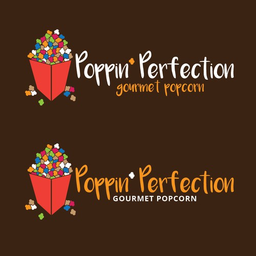 Logo for a company selling gourmet Popcorn