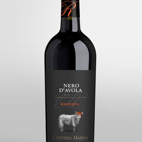Nero d'Avola Wine Label